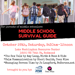 Middle School Survival Guide @ LWSD Resource Center