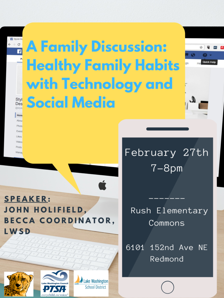 A Family Discussion: Healthy Family Habits with Technology and Social Media @ Ben Rush Elementary School